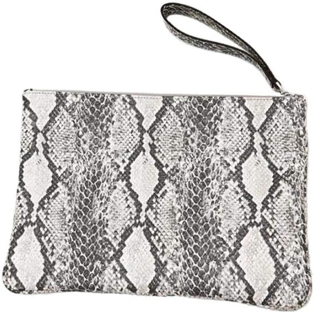 Envelop Clutch Purse for Women Handbags Snakeskin Pattern Evening Clutch Bag for Daily Use Wedding Cocktail Party Travel