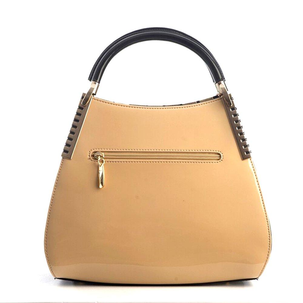 Bravo Beverly Hills Luxury HANDBAG~Irina Signature Series~Cream & Black Leather Handbag~Size Medium by Bravo Handbags Beverly Hills Collection (Image #5)