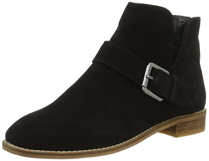 Bianco V-Cut Suede Boot Jfm17, Bottines FemmeNoir (Black 10), 37 EU