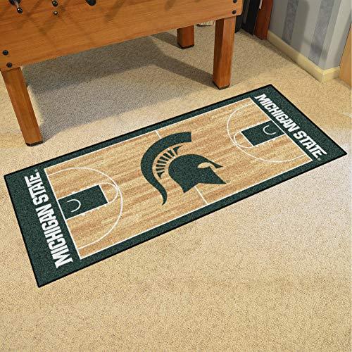 FANMATS 9960 Michigan State University Basketball Runner (Basketball State Rugs)