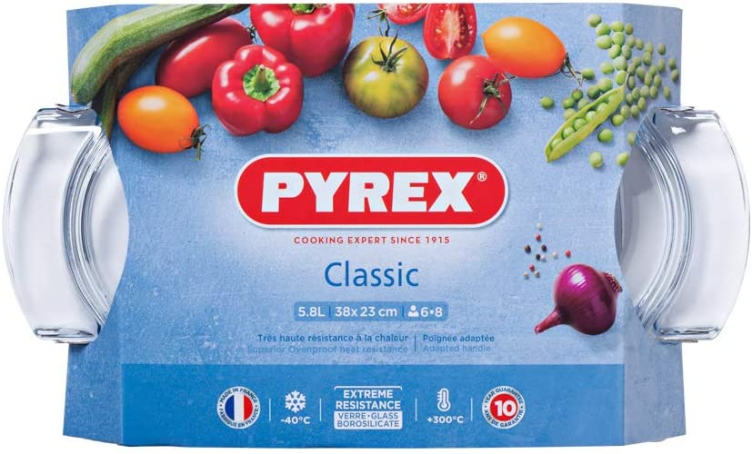Pyrex vetro ovale Casseruola 5.8 L