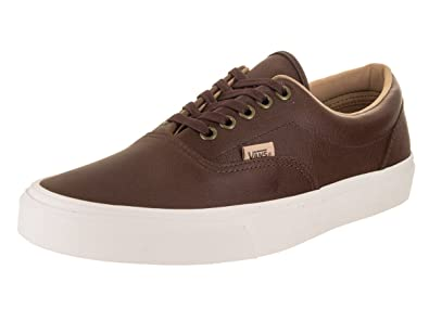 5f2893865b Vans Era (Lux Leather) Fashion Sneakers Shaved Chocolate Porcini Size 7 Men