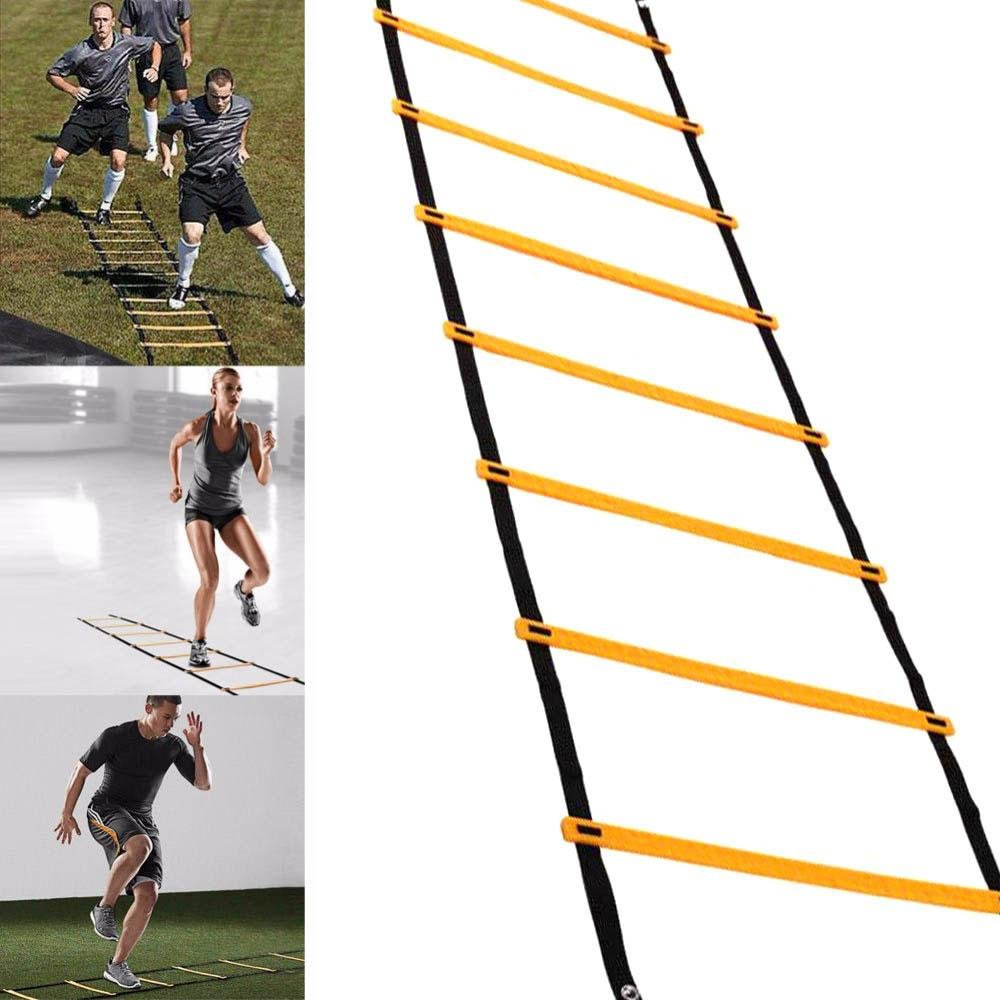 1eaa7e57c 7 Runges, 13ft for Athletic Workout Fitness/ Football/ Basketbal/ Soccer  Durable Training Exercise Drill Equipment with Carry Bag Pawaca Speed and  Agility ...