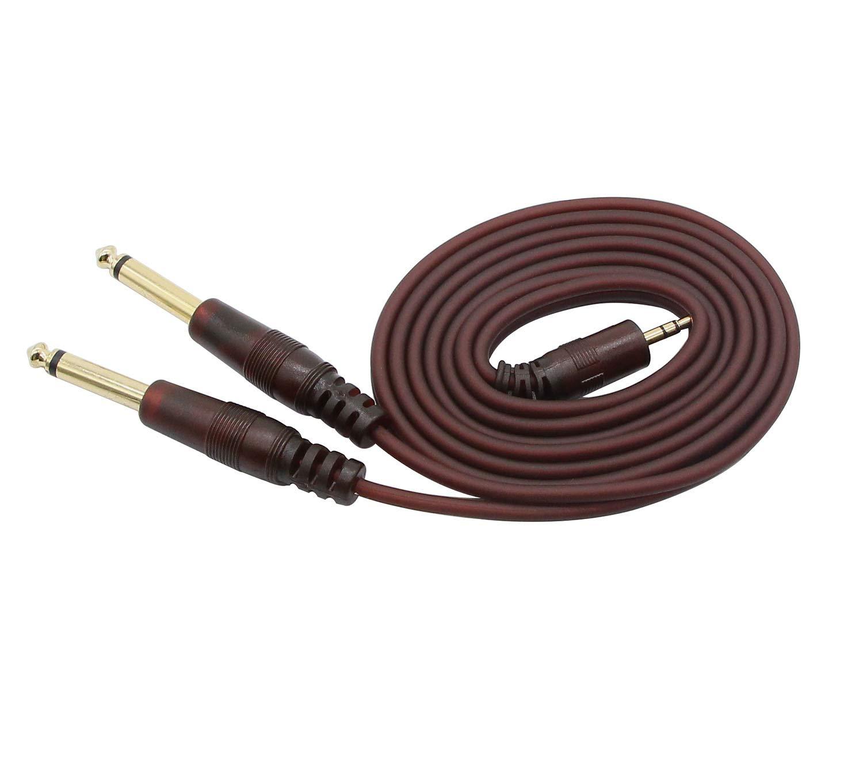 6.35 * 2 to 3.5-1.5m Cable de audio para guitarra cable de guitarra transparente con conector enchapado en oro 6.35