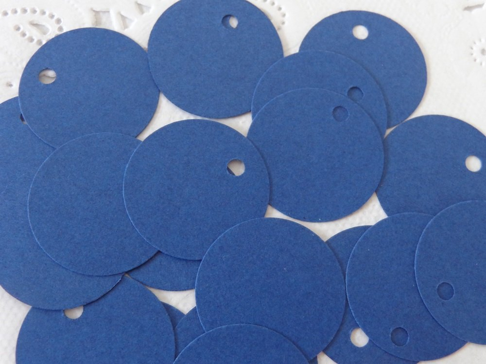 1 round paper tags Set of 125 Price Tags Small Navy Blue Circle Tags Gift Tags One Inch Size