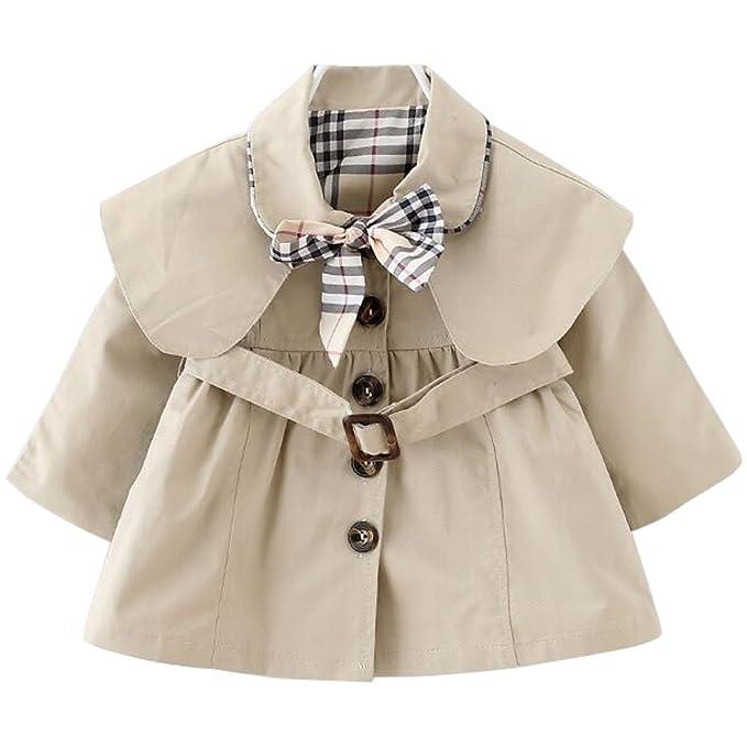 ARAUS Abrigos Niños Elegante Coat Primavera Otoño Rompeviento con Cinturón Corbata 6meses-8años: Amazon.es: Ropa y accesorios