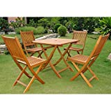 International Caravan Royal Tahiti Alhamba 5-Piece Patio Set in Stain
