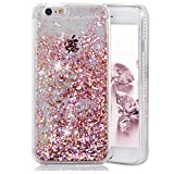 iPhone 6 Case, iPhone 6S Case, Crazy Panda 3D Creative Luxury Bling Glitter Sparkle Liquid Case Infused with Glitter and Stars Moving Quicksand Hard Case For Iphone 6/Iphone 6S - Pink Diamonds