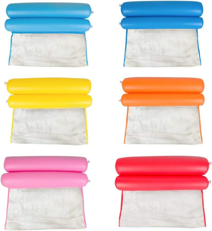 Akaddy Flotador de Piscina Inflable, Piscina Multiusos Silla de Hamaca Inflable para Adultos Niños descansan en la Piscina