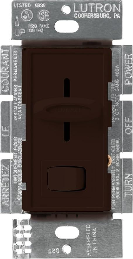 Lutron S103PBR Skylark 1000watt 3Way Dimmer Brown 1Pack