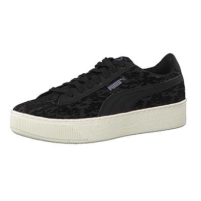 Puma Damen Sneaker Vikky Platform VR 363730 Black Black 41 2elA4Rw