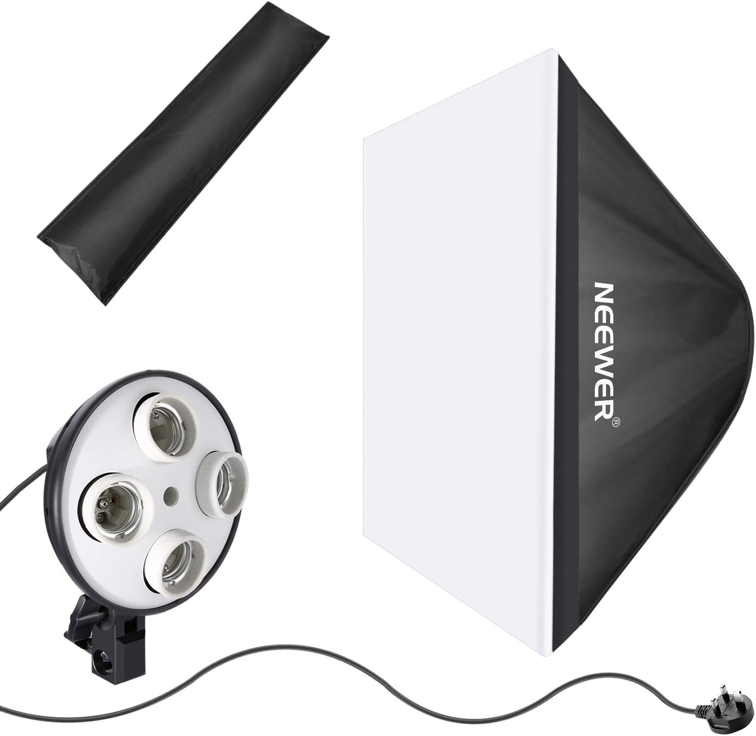 Photography Studio Light Reflector Softbox Adaptor Light Tent 20x28 Softbox with 4 Socket