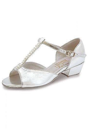 Roch Valley Lara Standard Tanzschuh für Damen und Mädchen Silber 13 (32) 83Ya3ETHV8