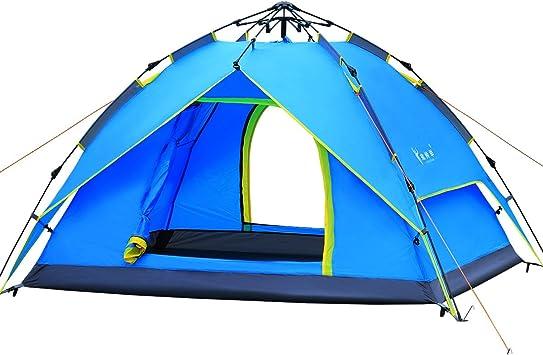 Qisan Toldo hidráulico para tienda de campaña de campaña, impermeable, para 3 – 4 personas, fácil de instalar y empaquetar