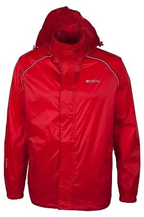 Mountain Warehouse Pakka Mens Waterproof Packable Rain Jacket With ...