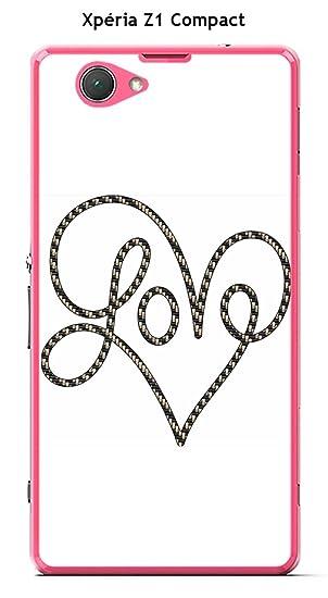 Onozo Carcasa Sony Xperia Z1 Compact Design corazón Love ...