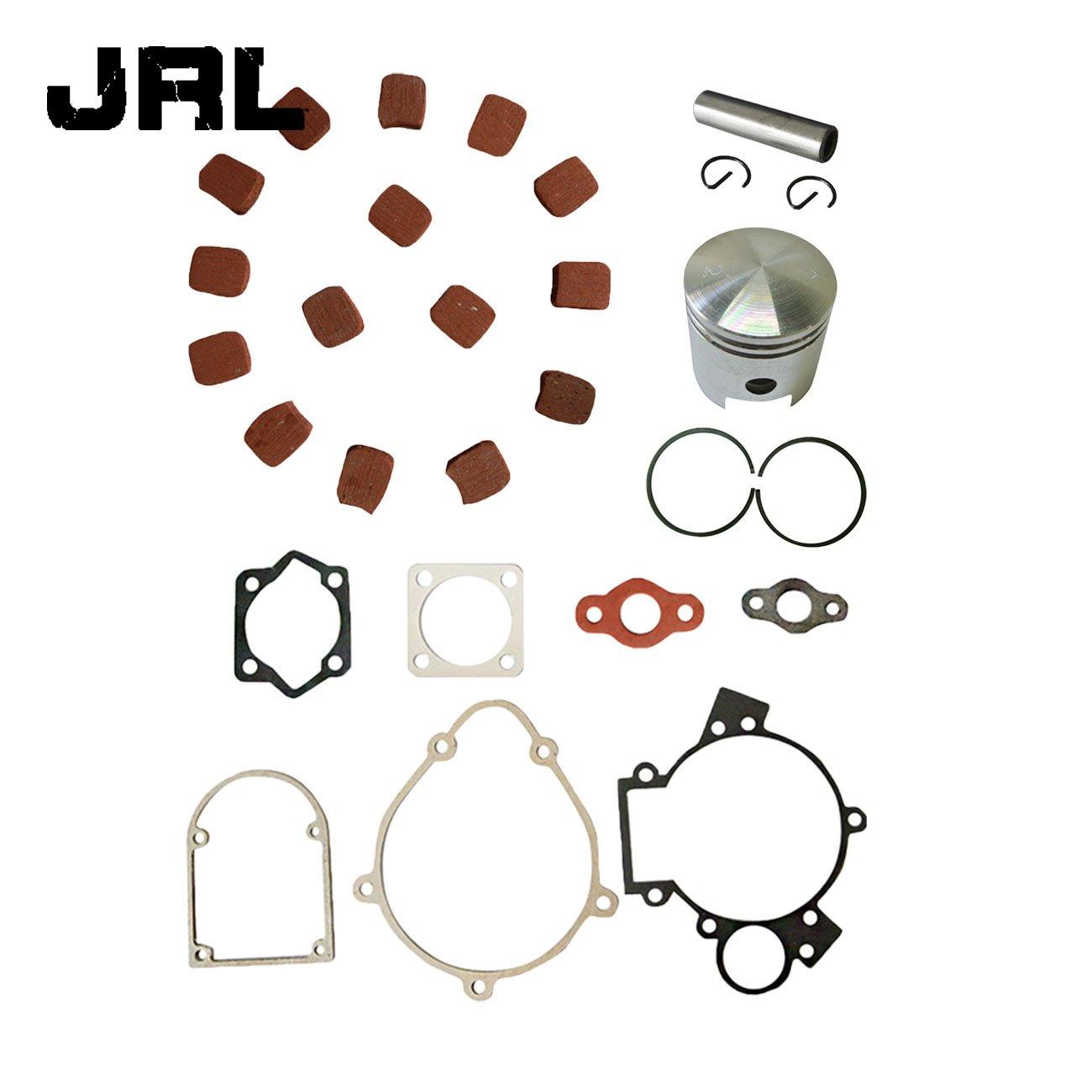 JRL The Piston Set /& Cluth Pads/& Gasket Set for 66cc 80cc Motorized Bike