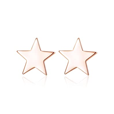 b0c9746b0 Three Colors Classic Fashion Authentic 925 Sterling Silver Five Star Stud  Earrings for Party MetJakt Women's Fine Jewelry: Amazon.co.uk: Jewellery