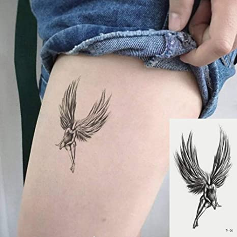 Oottati 2 Hojas Pequeño Lindo Tatuaje Temporal Tattoo Alas De Dios ...