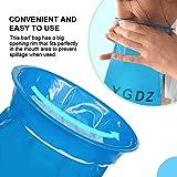 Barf Bags, YGDZ 15 Pack Vomit Bags Blue Emesis