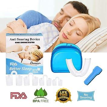 Charminer Dilatador Nasal Anti Ronquidos Anti Ronquidos Bruxismo Rechinar Alivia Apnea del Sueño Respiración Fuerte: Amazon.es: Deportes y aire libre