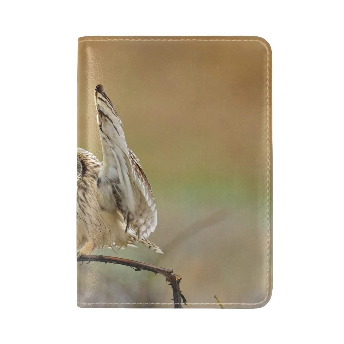 Animal Owl Short-eared Lonely Amazing Amazing Tree Gorgeous Nature Leather Passport Holder Cover Case Travel One Pocket