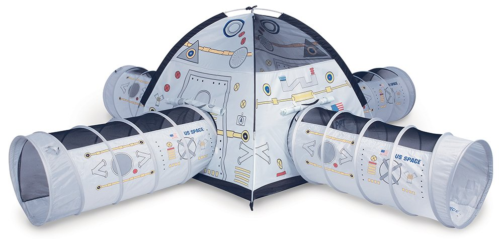 Pacific Play Tents Kids Space Station Dome Tent with 4 Crawl Tunnels for Indoor / Outdoor Fun
