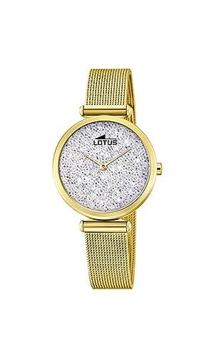 Edelstahl 185651Amazon Lotus Quarz Mit Armband Analog Damen Uhr b6Y7yfgv