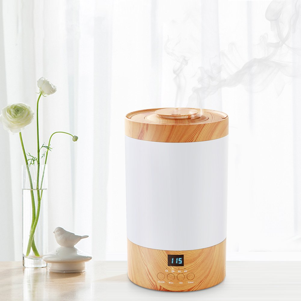 REIDEA Ultrasonic Humidifier, 3L Whisper-Quiet Cool Mist Humidifier with LED Display, Adjustable 40-85% RH & Two Mist Levels Humidifying Unit for Home Bedroom Baby Office Yoga Spray by REIDEA