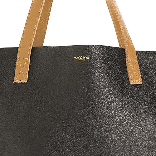MAC, Borsa tote donna Nero Black and Camello