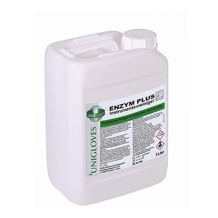 Unigloves enzima Plus Instrumento - Limpiador PH neutro - 5 Litros ...