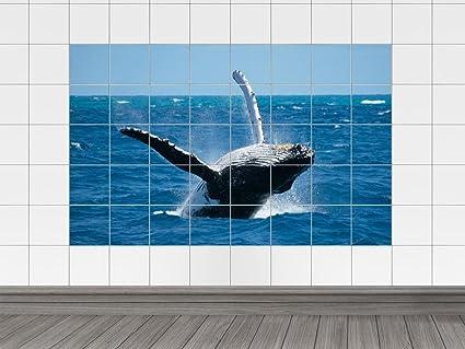 Piastrelle adesivo piastrelle immagine gioco ender balena nel mare
