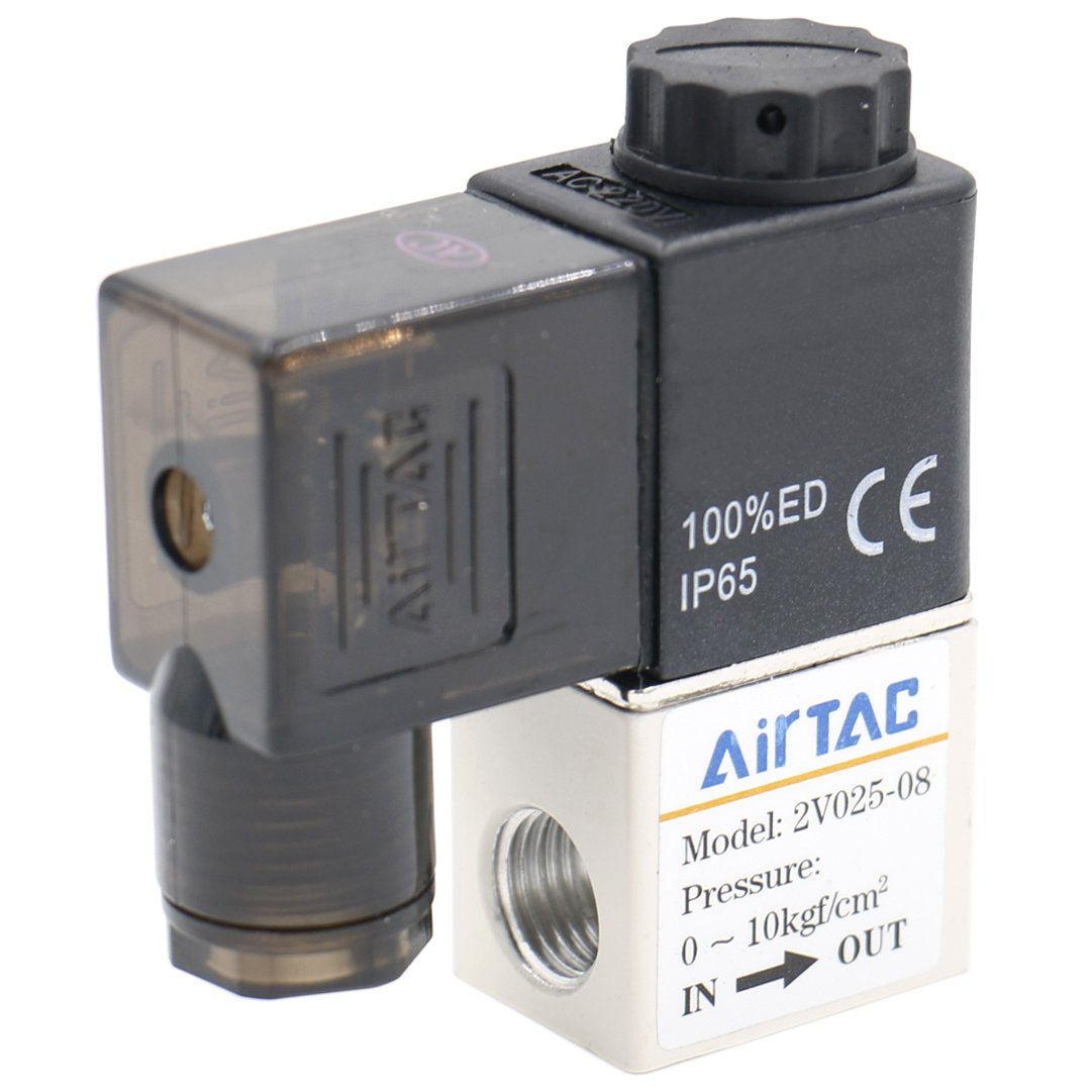 Heschen Electrical Pneumatic Solenoid Valve 2V025-08 24VDC PT1/4 2/2 Way Normally Closed OEM
