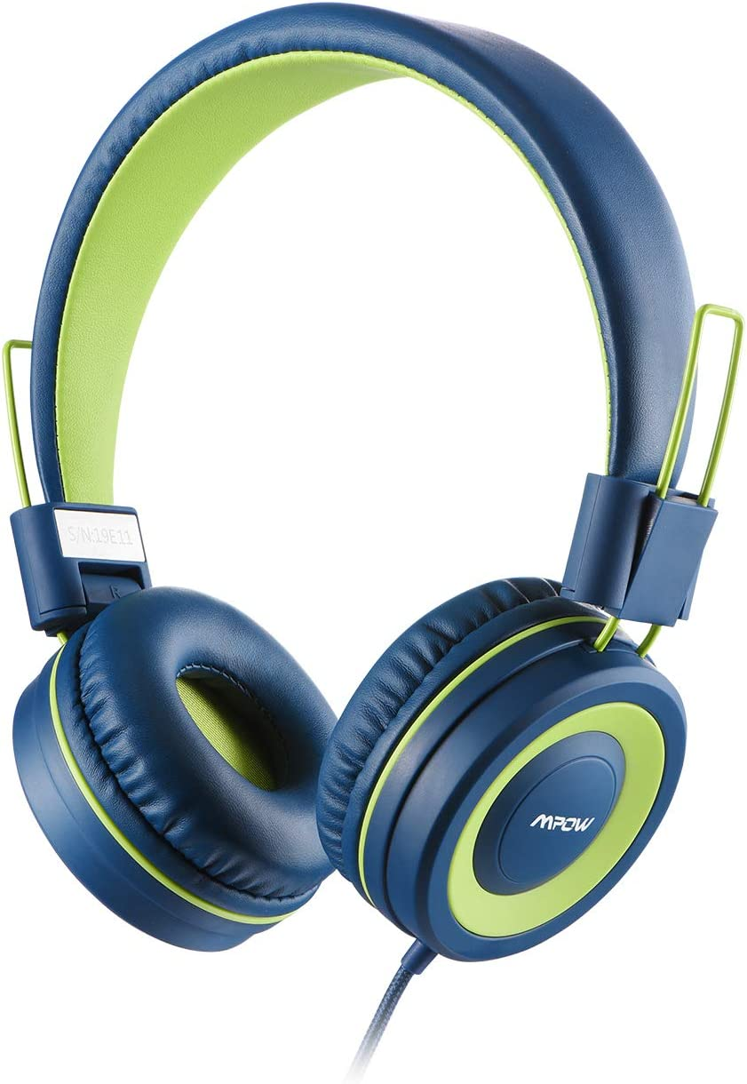 Mpow CH8 Kids Headphones, Volume Limiter Hearing Protection, Light Weight Comfortable On-Ear Headsets W Foldable and Durable Earphones for Toddlers,Children,School,Kindle,Travel