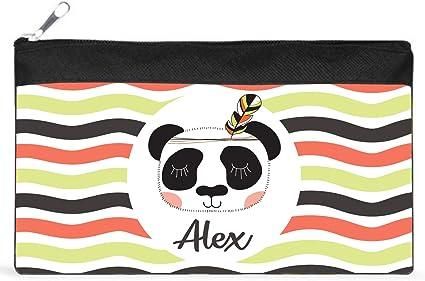 Kembilove - Estuche Infantil Personalizado – Estuches Personalizados con el Nombre del Niño o Niña – Estuche Vuelta al Cole – Estuche personalizado (Panda): Amazon.es: Oficina y papelería