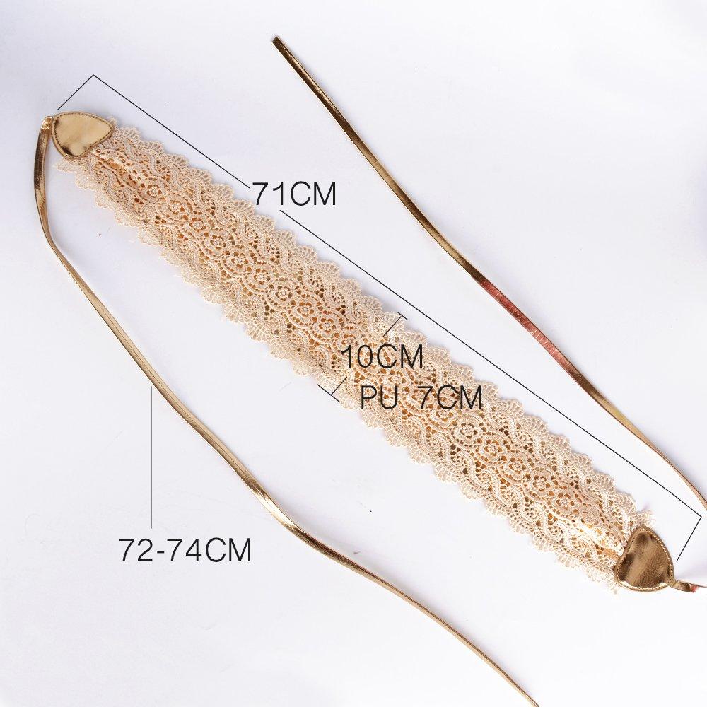 Cinturón Ancho Obi Ajustable para Mujer para Vestidos de Fiesta Boda (Dorado): Amazon.es: Ropa y accesorios