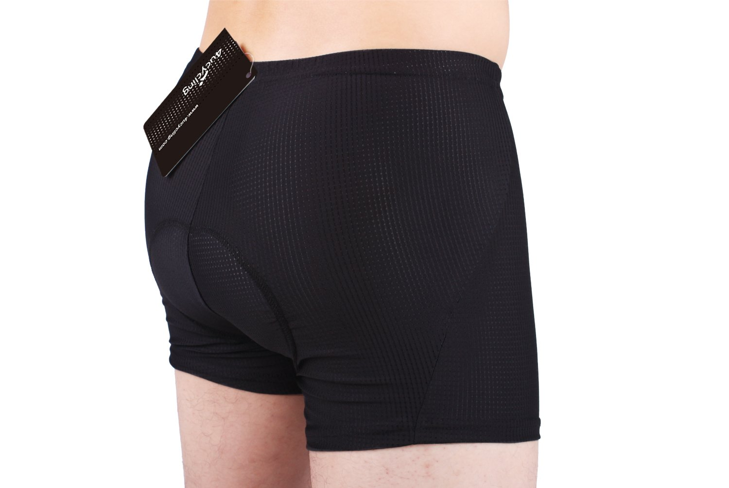 4ucycling Unisex (Men s/Women s) 3D padded Bicycle Cycling Underwear Shorts - L(haimian) Black Updated Sponge Padded