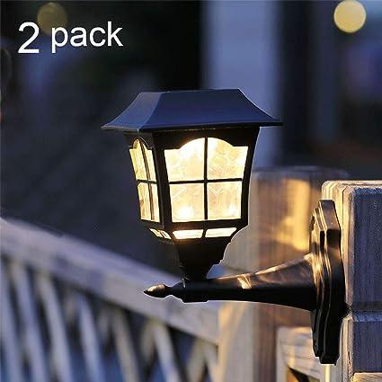 maggift 6 lumens solar wall lantern outdoor christmas solar lights wall sconce solar outdoor led light