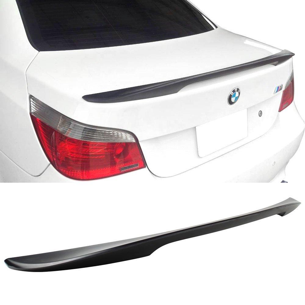 Trunk Spoiler Fits 2004-2010 BMW E60 5 Series   High Kick Performance Style ABS Rear Deck Lip Wing Bodykits by IKON MOTORSPORTS   2005 2006 2007 2008 2009