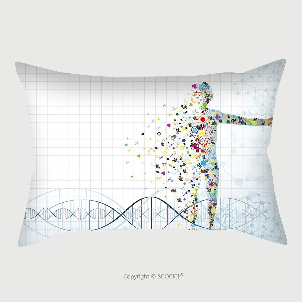 Custom Satin Pillowcase Protector Molecule Body Concept Of The Human Dna Eps 253421281 Pillow Case Covers Decorative