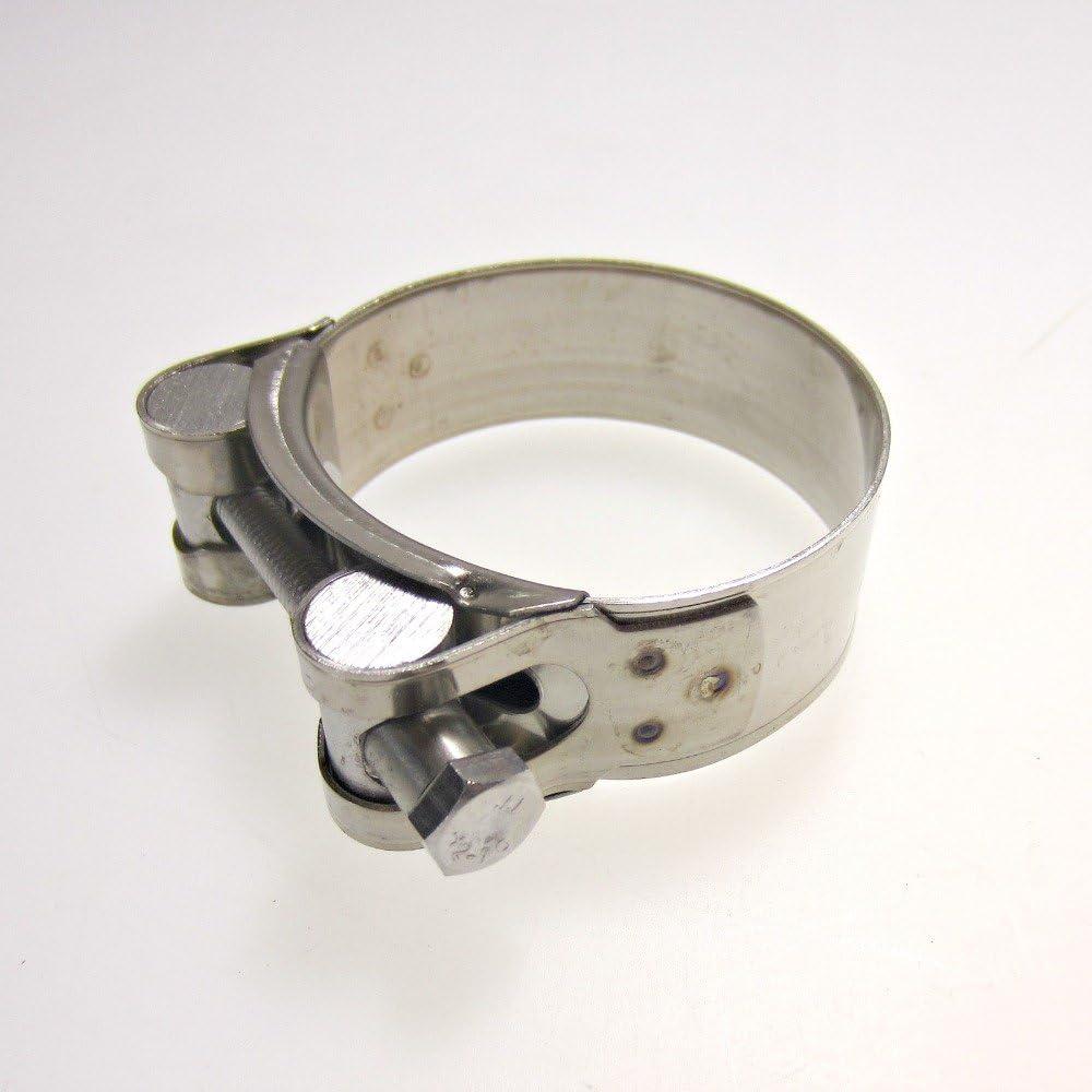 Fascette scarico in acciaio inox per moto 52-55mm