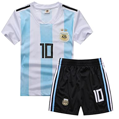 dfd842c8a yuqier Argentina National Soccer Team 2018 World Cup Football Soccer Club  Short Sleeve Jersey Kids Boy