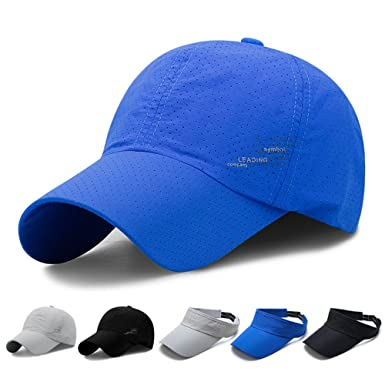 SHANLIANG Quick Dry Sports Hat Lightweight Breathable Soft Outdoor Run Cap (Blue) 381300ecbefc