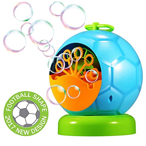 Geekper Bubble Machine Automatic Durable Bubble Blower For Kids Over 500 Bubbles Per Minute For Outdoor Or Indoor Use Kids Fun Blue