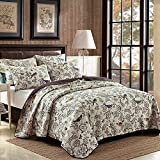 queen quilt birds - NEWLAKE Country Style Bedspread Comforter Quilt Sets, Flying Birds and Flowers Pattern, Queen Size