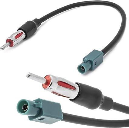 Cable Adaptador de Antena de Radio de Coche Fakra Z (m) a DIN ISO Compatible con BMW Serie 5 E39 E61 E60