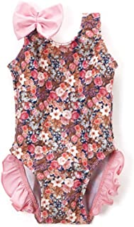 product image for Pink Floral One Piece Girls with Ruffles Size 2T