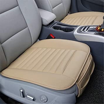 Car Seat Cushion Covers Leather Mats Pads Mattress Bamboo Charcoal Waterproof