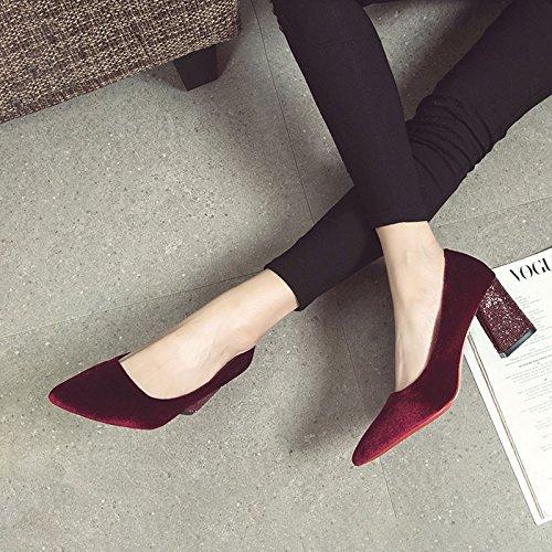 HRCxue  hellen, Tipp des high-heel Schuhe mit hellen,  mit einer einzigen Mutter der Braut Hochzeit Schuhe Frauen Schuhe 39 begleitet - 802229