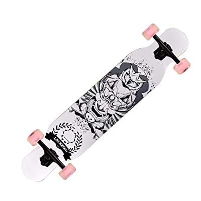 Aniseed Skateboards Longboard Cruiser Skateboard Deck Complete Tribal Totem 9.8-Inch X 46.0-Inch : Sports & Outdoors